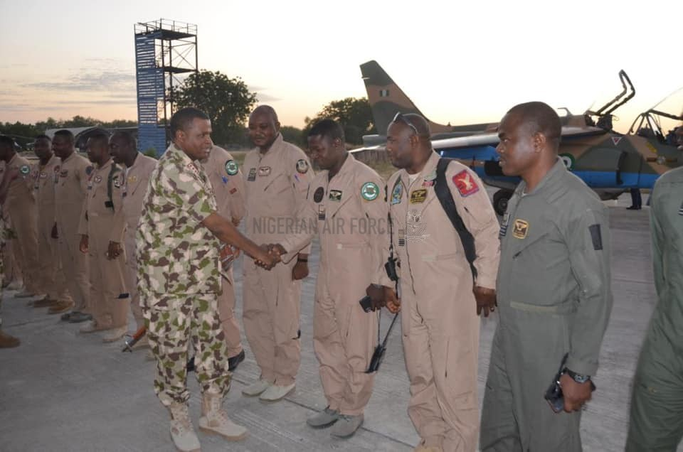 OPERATION RATTLE SNAKE: CAS WELCOMES NAF AIR TASK FORCE PILOTS FROM PRE-DUSK MISSION IN MAIDUGURI